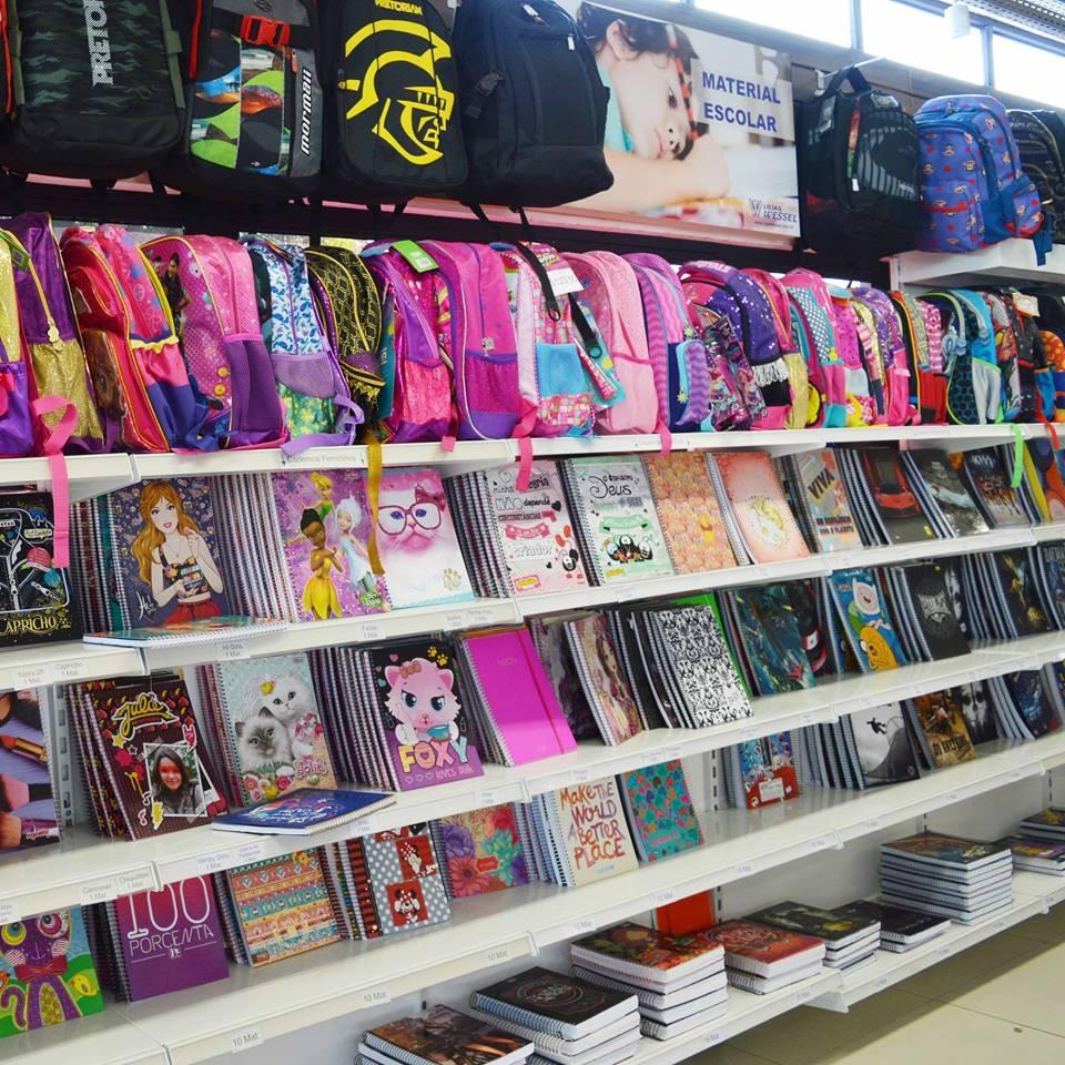 Aqui na Wessel você encontra toooooooodos os itens da lista de material escolar. 😉  Já conhece nossas condições de pagamento para esses produtos? À vista 3% de desconto ou no cartão em até 6x sem juros.